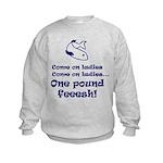 One pound fish Kids Sweatshirt