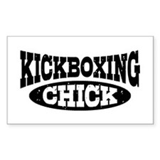 Kickboxing Chick Decal