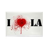 I *gunshot* LA Rectangle Magnet (10 pack)