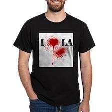 I *gunshot* LA Black T-Shirt