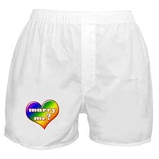 """Marry Me?"" (rainbow) Boxer Shorts"