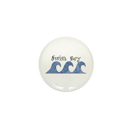 Swim Boy Mini Button