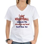 VOICES IN MY HEAD.png Women's V-Neck T-Shirt