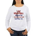 VOICES IN MY HEAD.png Women's Long Sleeve T-Shirt