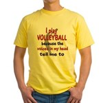 VOICES IN MY HEAD.png Yellow T-Shirt