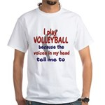 VOICES IN MY HEAD.png White T-Shirt