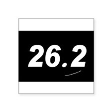 26.2 Oval Sticker (white text on black background)
