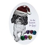 Shih Tzu Christmas Oval Ornament