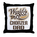 Chonzer Dog Dad Throw Pillow