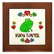 Frog Lover Framed Tile