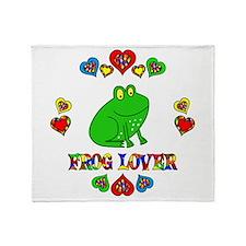 Frog Lover Throw Blanket