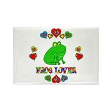 Frog Lover Rectangle Magnet (10 pack)