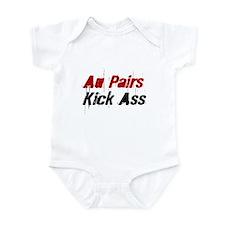 Au Pairs Kick Ass Infant Bodysuit