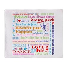 Ultimate Dance Collection Throw Blanket