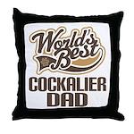 Cockalier Dog Dad Throw Pillow