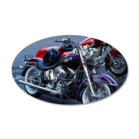 Harley Davidson Dreaming 20x12 Oval Wall Decal