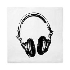 Dj Headphones Stencil Style T Shirt Queen Duvet