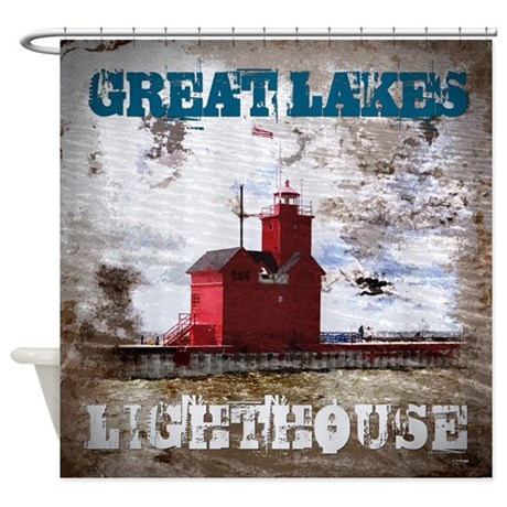 Great Lakes Lighthouse Shower Curtain by perkinsdesigns