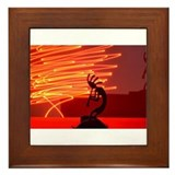 Kokopelli Creates Fire Energy Framed Tile