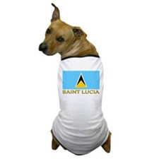 Saint Lucia Flag Stuff Dog T-Shirt