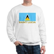 Saint Lucia Flag Stuff Sweatshirt