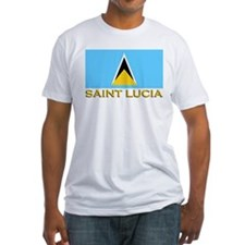 Saint Lucia Flag Stuff Shirt