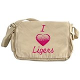I Love/Heart Ligers Messenger Bag
