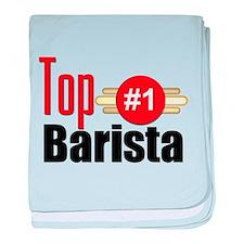 Top Barista baby blanket