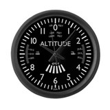 Cute Pilot Large Wall Clock