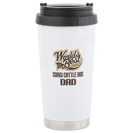 Corgi Cattle Dog Dad Ceramic Travel Mug