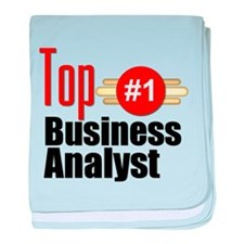 Top Business Analyst baby blanket