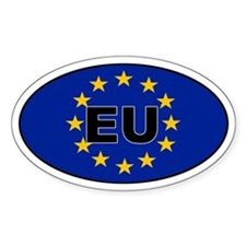 European Union (EU) Oval Decal