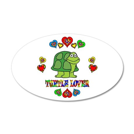 Turtle Lover 20x12 Oval Wall Decal