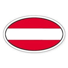 Austrian Oval Flag on Oval Decal