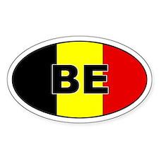 Belgium Flag Oval Decal