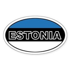 Estonian Flag Oval Decal