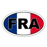 French (FRA) Flag Oval Decal