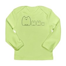 Carly Cat and her kittens Long Sleeve Infant T-Shi