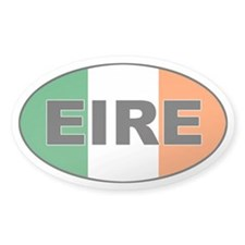 Irish (EIRE) Flag Oval Decal