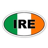 Flag of Ireland (IRE) Oval Decal