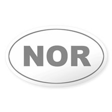 Norway (NOR) Oval Decal
