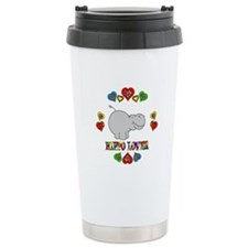 Hippo Lover Ceramic Travel Mug