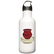 Clay Pottery Water Bottle