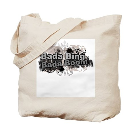 Bada Bing Boom Soprano's Saying Tote Bag