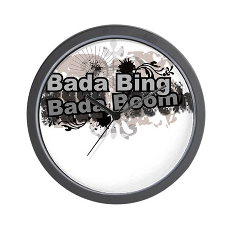 Bada Bing Boom Soprano's Saying Wall Clock