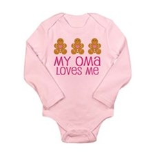 Oma Loves Me Gingerbread Long Sleeve Infant Bodysu