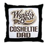 Cosheltie Dog Dad Throw Pillow