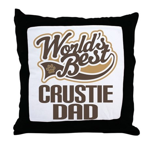 Crustie Dog Dad Throw Pillow