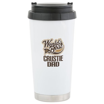 Crustie Dog Dad Ceramic Travel Mug