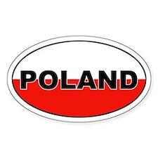 Poland Flag Oval Decal